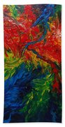 Primary Abstract II Beach Towel