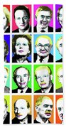 'prime Ministers Question Time X 16' Beach Towel