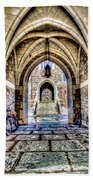 Princeton University Arches And Stairway To Education Beach Towel