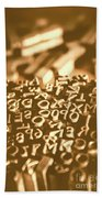Print Industry Typographic Letters And Numbers Beach Towel