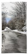 Private Country Road Beach Towel