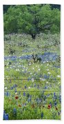Private Property -wildflowers Of Texas. Beach Towel