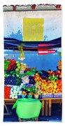 Produce Seller Beach Towel