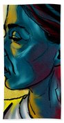 Profile In Blue Beach Towel
