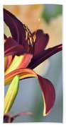 Profile Of A Day Lily Beach Towel