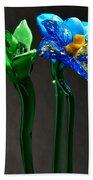Profile Of Glass Flowers Beach Towel