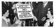 Prohibition Ends Let's Party Beach Towel