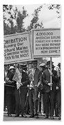 Prohibition Protestors Beach Towel