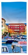 Prokurative Square In Split Evening Colorful View Beach Towel