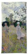Promenade Near Argenteuil Beach Towel by Claude Monet