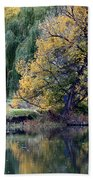 Prosser - Autumn Reflection With Geese Beach Towel