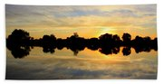 Prosser Sunset - Blue And Gold Beach Towel