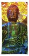 Protection Buddha #2 In Japanese Tea Garden At Golden Gate Park - San Francisco Beach Sheet