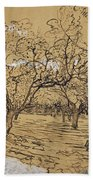 Provencal Orchard Arles  March - April 1888 Vincent Van Gogh 1853  1890 Beach Towel