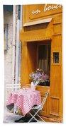 Provence Cafe Beach Towel