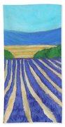 Provence Lavender Field Beach Sheet