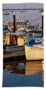 Provincetown Fishing Boats, Ptown, Ma Beach Towel