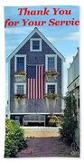 Provincetown Patriot By Sharon Eng Beach Towel