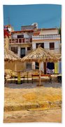 Prvic Luka Waterfront Architecture View Beach Towel