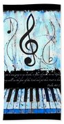 Psalm 40/3 Blue Beach Towel