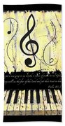 Psalm 40/3 Yellow Beach Towel