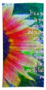 Psalms 92 1 2 Beach Towel