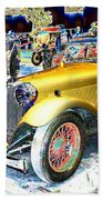 Psychedelic 1930 Jaguar Ss1 At London Classic Car Show 2015 Beach Towel