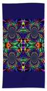 Psychedelic Abstract Kaleidoscope Beach Towel