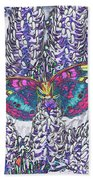 Psychedelic Butterfly Beach Towel