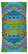 Psychedelic Egg Groovy Beach Towel