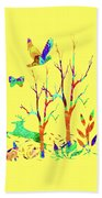Psychedelic Forest Beach Towel