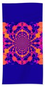 Psychedelic Mandelbrot Set  Kaleidoscope Beach Towel