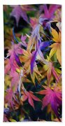 Psychedelic Maple Beach Towel by Kaye Menner