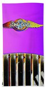 Psychedelic Morgan 4/4 Badge And Radiator Beach Towel