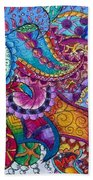 Psychedelic Paisley Beach Towel