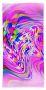 Psychedelic Swirls On Lollypop Pink Beach Towel