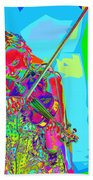 Psychedelic Violinist Beach Towel
