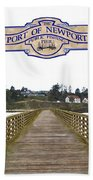 Public Fishing Pier Beach Towel