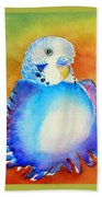Pudgy Budgie Beach Towel