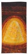 Pueblo Kiva Fireplace Original Painting Beach Towel