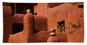 Pueblo Revival Style Architecture II Beach Towel