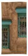 Pueblo Windows Nm Square Img_8336 Beach Towel