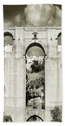 Puente Nuevo Tajo De Ronda Andalucia Spain Europe Beach Towel
