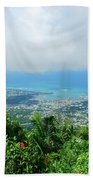 Puerto Plata Mountain View Of The Sea Beach Towel