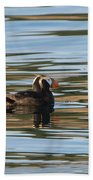 Puffin Reflected Beach Towel