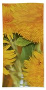 Puffy Golden Delight Beach Towel