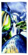 Pulse Of Life Abstract Beach Towel