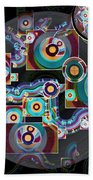 Pulse Of The Motherboard Beach Towel