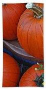 Pumpkin And Flowers Beach Sheet