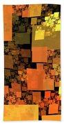 Pumpkin Autumn Cubes Beach Towel